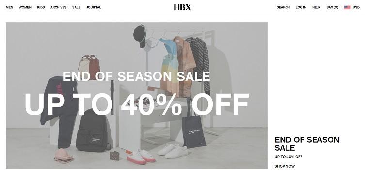 HBX Promo Code