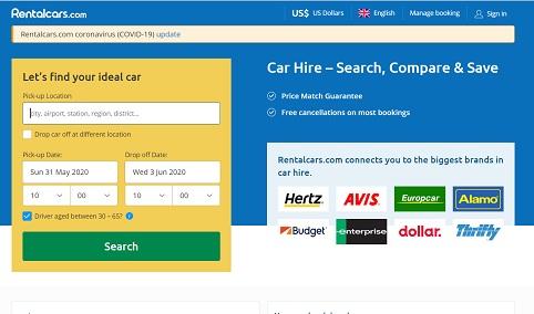 RentalCars.com Promo kood