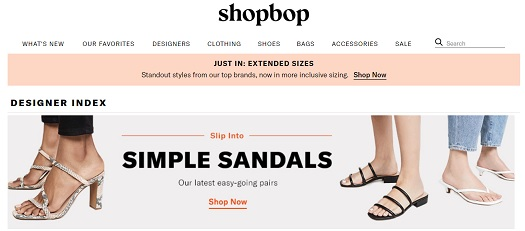 SHOPBOP Discount Coupon